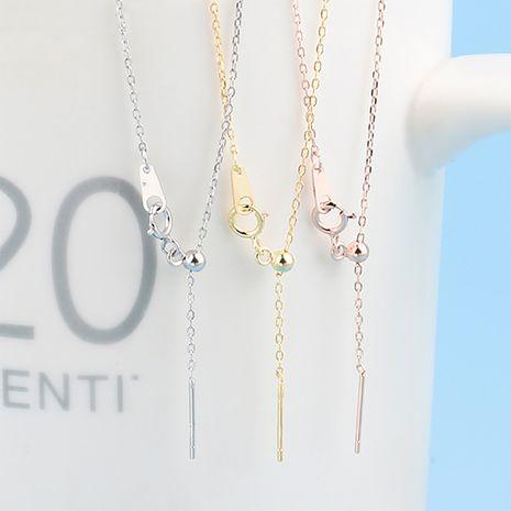 nouvelles dames collier en acier titane chaîne simple chaîne de la clavicule collier bricolage chaîne en gros nihaojewelry NHTF236984's discount tags