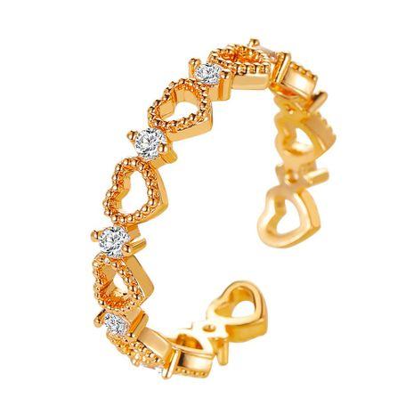 Bague en forme de coeur creuse coréenne en gros nihaojewelry NHDP246107's discount tags