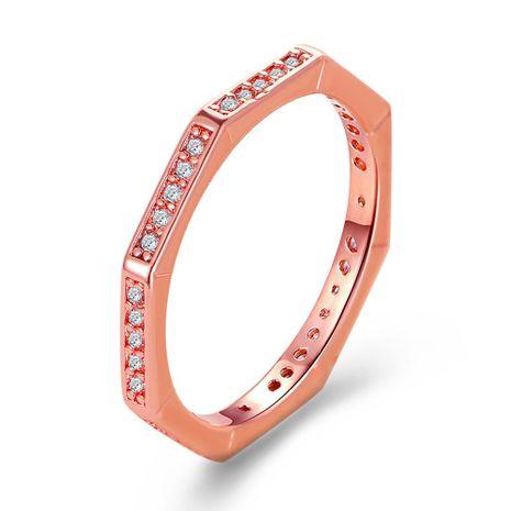 vente chaude polygone bague géométrique mode bague diamant angulaire en gros en gros nihaojewelry NHDP246105's discount tags