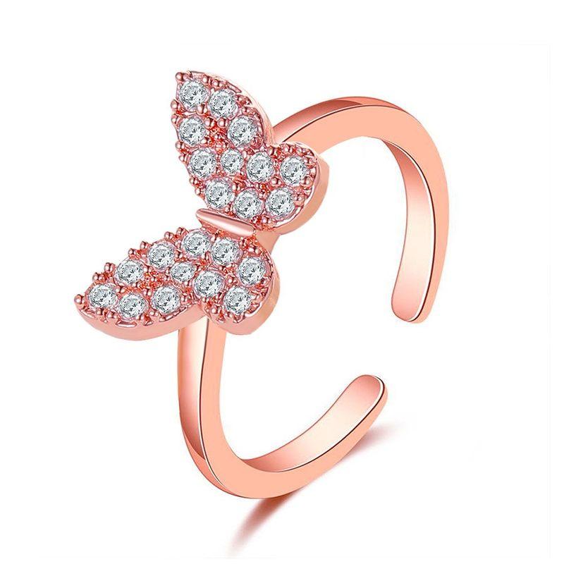 nouvelle bague papillon mode personnes simple ouverture réglable bague en gros nihaojewelry NHDP246097