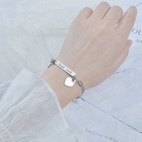 Korean niche simple love jewelry english letter bracelet for women  NHHF246111's discount tags
