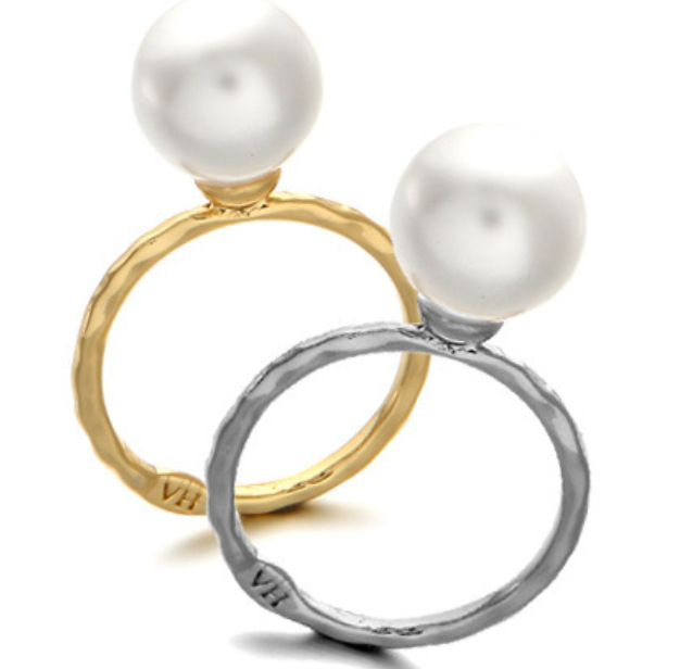 Korean best selling jewelry ring simple and elegant all-match pearl fine ring wholesale  NHDP246092