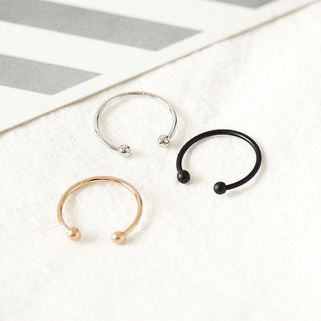Anneau réglable d'ouverture de perle brillante Mode coréenne simple anneau de queue de couple de boule ronde en gros NHDP246058's discount tags