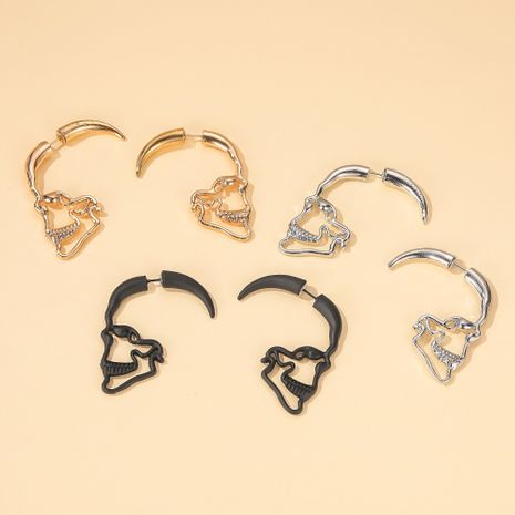creative design hollow piercing face earrings punk style retro skull earrings Wholesale nihaojewelry NHDP246078's discount tags