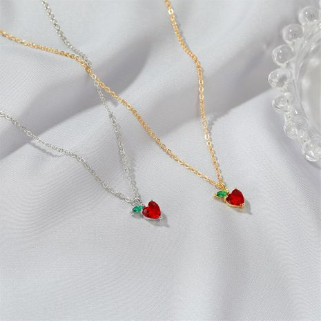Cute Apple simple  Fruit Pendant Necklace  NHDP246099's discount tags