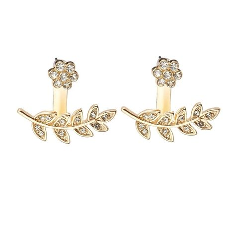 Boucle avant et arrière à la mode fleur creuse vente chaude boucles d'oreilles en gros NHDP246091's discount tags