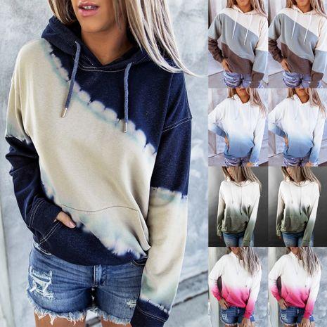 Suéter de manga larga con capucha y estampado tie-dye suelto de las nuevas mujeres de la moda NHYF246427's discount tags