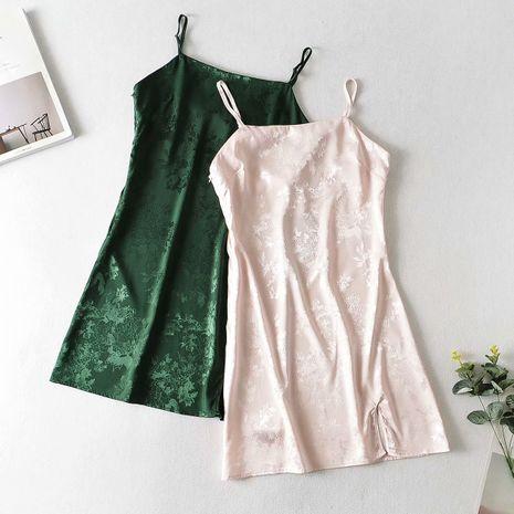 wholesale vestido de la honda del jacquard del satén del otoño de la moda para las mujeres NHAM246442's discount tags