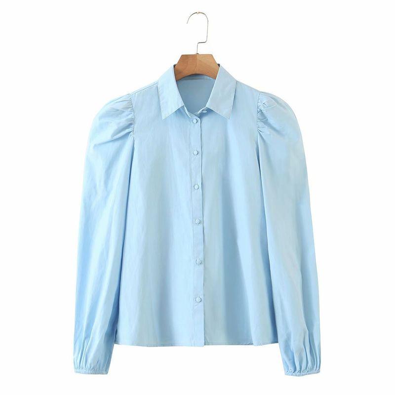 wholesale fashion womens autumn puff sleeve long sleeve blouse top  NHAM246451