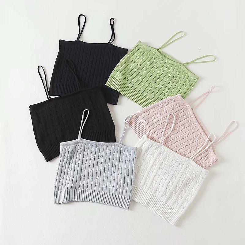 wholesale new summer twist knitted women's sling top  NHAM246501