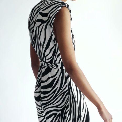 wholesale vestido de mono con estampado animal de verano nuevo de moda para mujer NHAM246503's discount tags