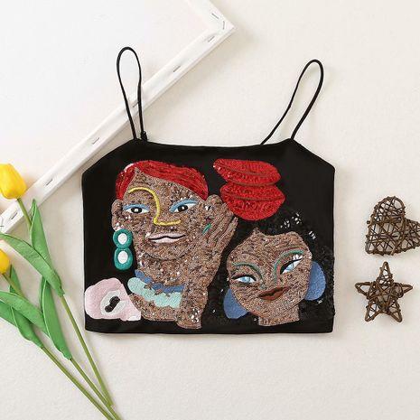 wholesale nueva moda otoño bordado estilo étnico mujer sling top NHAM246509's discount tags