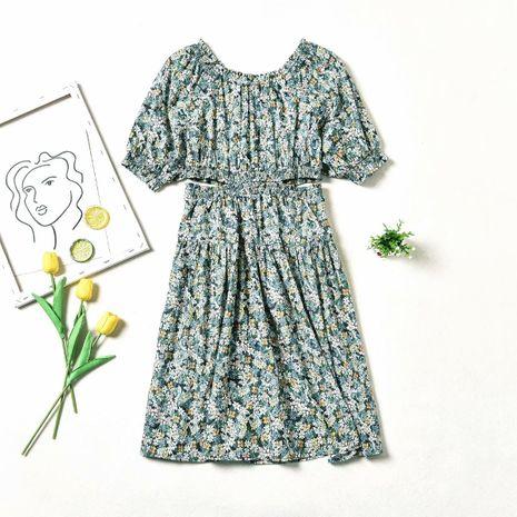 wholesale vestido con estampado de flores huecas de otoño nuevo de moda NHAM246510's discount tags