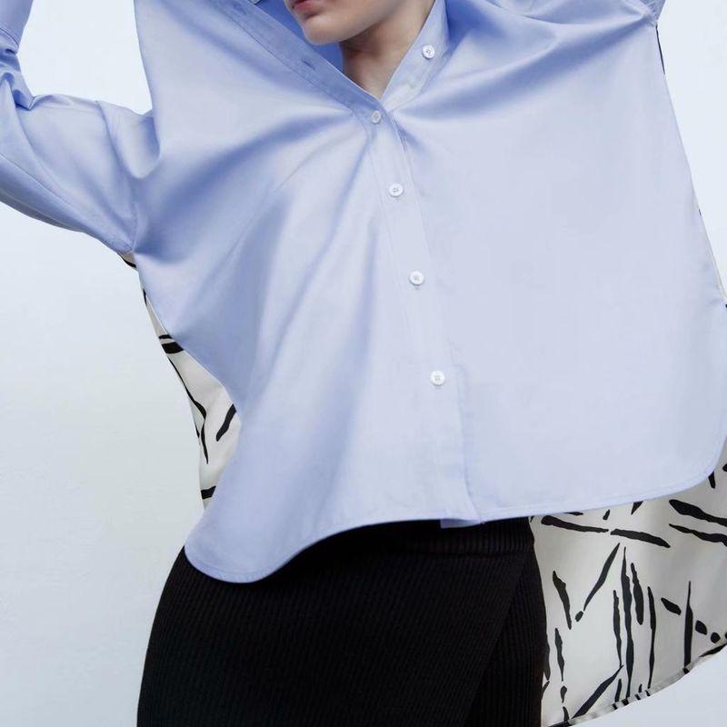 wholesale fashion womens autumn stitching long blouse top  NHAM246514
