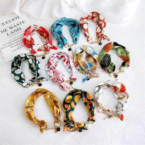 Nouvelle décoration de bande d'automne pour femmes Foulard en soie à petit ruban polyvalent étroit NHMN246517's discount tags