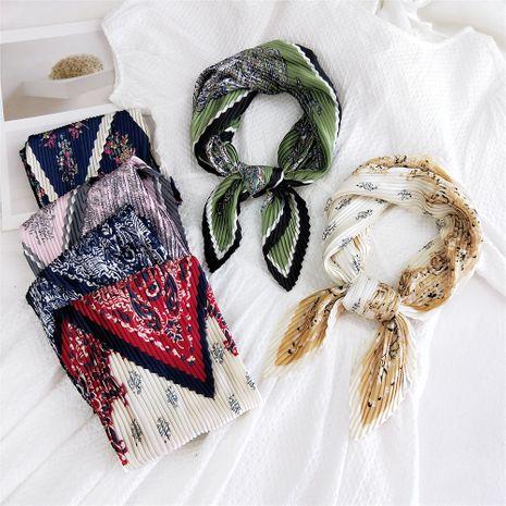 nouveaux plis cajou printemps nouvelle mode sauvage petite écharpe carrée en soie pour les femmes NHMN246522's discount tags