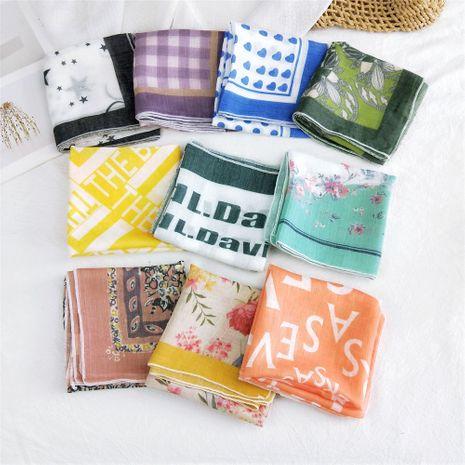 nouvel automne corée all-match turban mode décoratif coton et lin petite écharpe en soie carrée pour les femmes NHMN246527's discount tags
