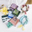 new autumn Korea allmatch turban fashion decorative cotton and linen small square silk scarf for women NHMN246527