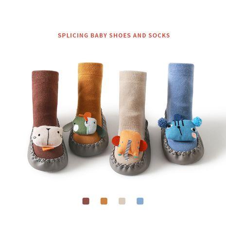 Nuevos calcetines antideslizantes de interior para niños, accesorios de dibujos animados de otoño e invierno, zapatos y calcetines para bebés al por mayor NHER246545's discount tags