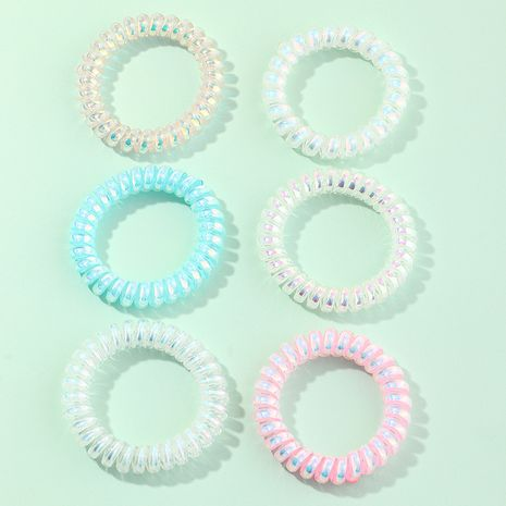 hair circle small fresh fluorescent color phone line hair rope 6-piece set wholesale  NHAU246580's discount tags
