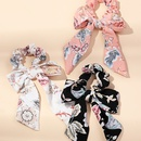 new bow hair tie ponytail knotted fabric printing headwear 3 sets hair accessories NHAU246586