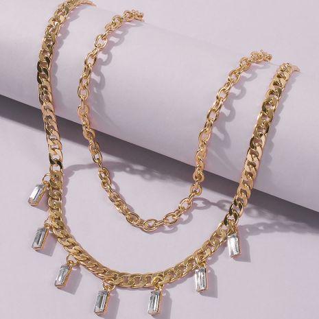 multi-layer belt diamond starlight star pendant necklace  wholesale NHMD246671's discount tags