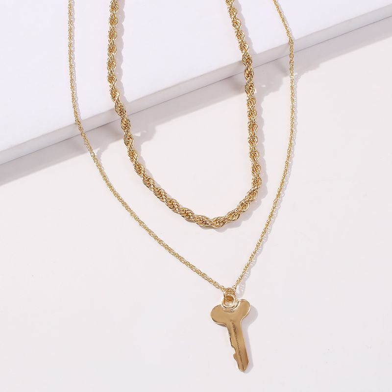 cross ladies sweater necklace multi-layer fashion pendant alloy necklace wholesale NHMD246672