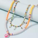 t simple vacances style couleur coquille collier de perles de riz collier de couleur multicouche en gros NHMD246674