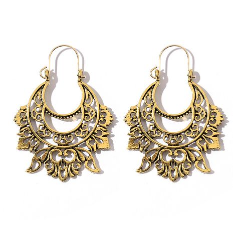 new trend hollow pattern retro earrings wholesale nihaojewelry NHGY246685's discount tags