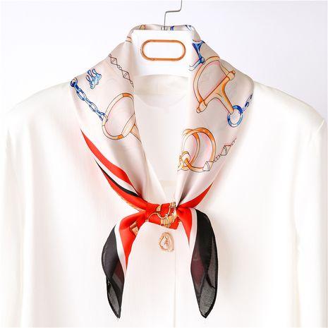 nouvelle dames rétro coréen imprimé léopard sauvage petite écharpe en soie carrée NHGD246745's discount tags