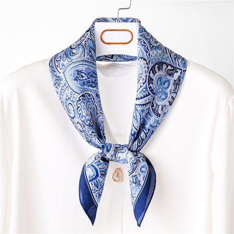 Femmes coréennes all-match rétro fleur de cajou accessoires dames petite écharpe carrée en soie NHGD246747's discount tags