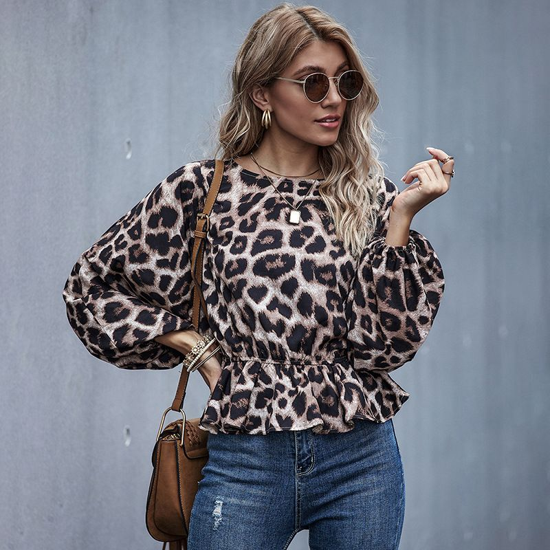 New Ladies Leopard Print Winter Women's Fashion Trends shirts tops NHDF246773