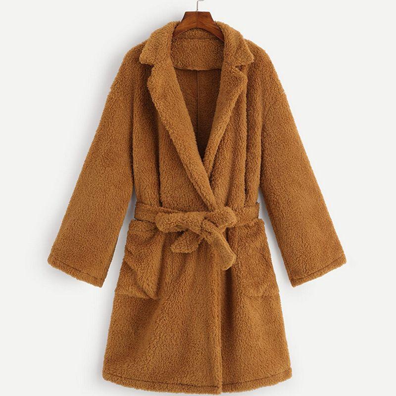 Plush plus size women's long coat  wholesale  NHDF246779