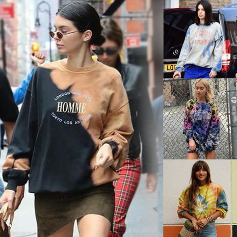 Suéter de cuello redondo de manga larga con estampado de otoño nuevo y caliente para mujer de moda NHDF246780's discount tags