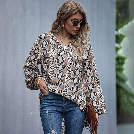 Otoño nueva moda suelta leopardo tops de manga larga para mujer camisa de marea de fondo medio NHDF246803's discount tags