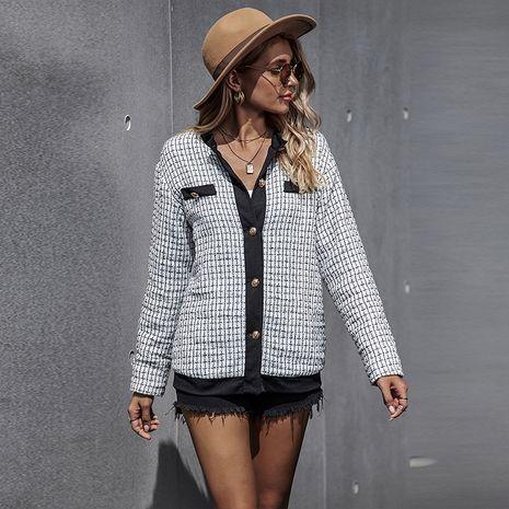 Otoño nuevo patrón de mujer abrigo de un solo pecho manga larga hot-saling NHDF246808's discount tags