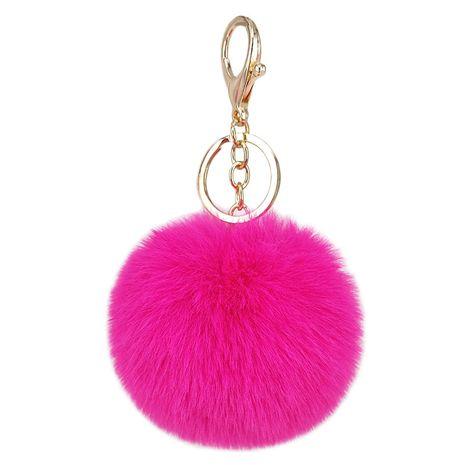 Cute fur ball keychain imitation rex rabbit fur car pendant fur ball ornaments ladies fur keychain bag pendant NHAP246817's discount tags