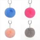 8CM Imitation Rex Rabbit Fur Ball Key Ring Faux Fur Short Hair Bag Pendant Ladies Bag Ornament NHAP246818