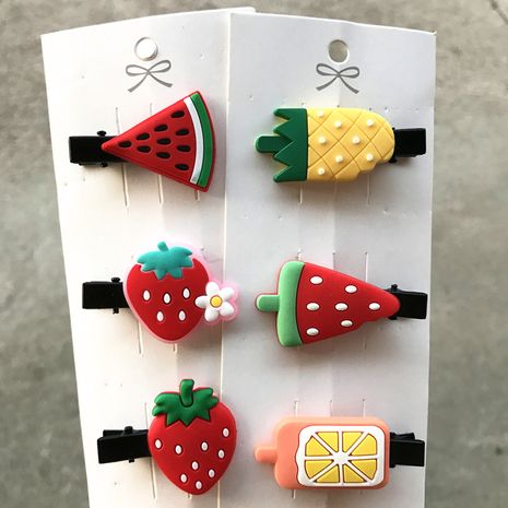 Korean cute fruit cartoon broken hair bb clip  NHDI246836's discount tags
