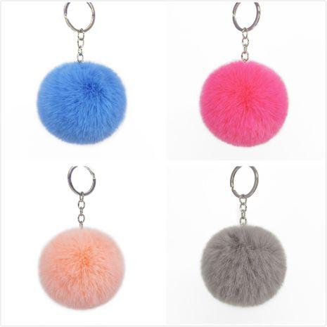 8CM Imitation Rex Rabbit Fur Ball Key Ring Faux Fur Short Hair Bag Pendant Ladies Bag Ornament NHAP246818's discount tags