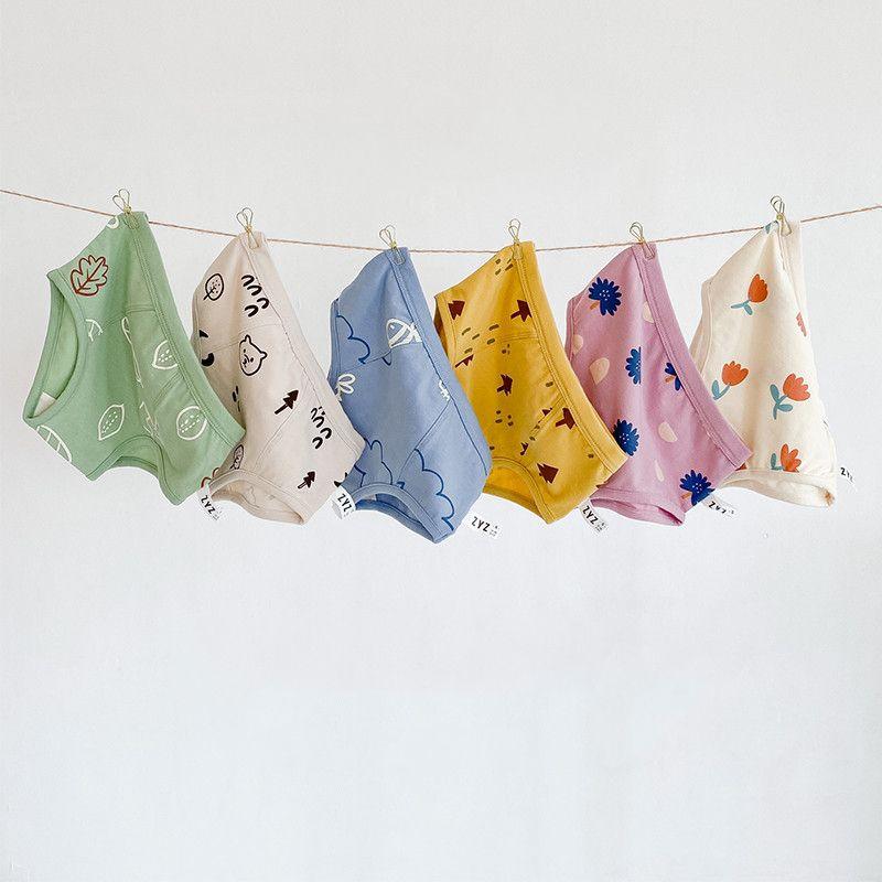 children's trendy autumn and winter fresh illustration four-corner boys cotton underwear wholesale  NHER246556