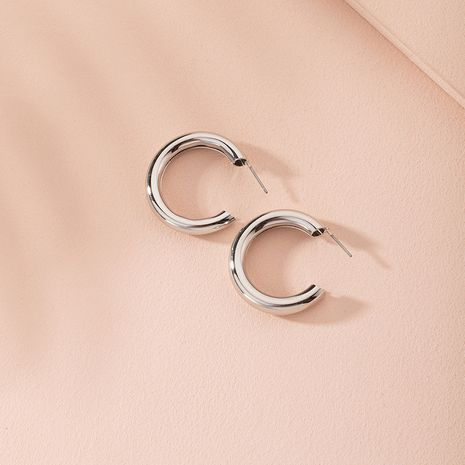 New fashion metal C-shaped large circle women's retro alloy earrings NHAI246841's discount tags