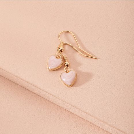 new pink fashion love-shaped minimalist earrings for women wholesale NHAI246842's discount tags