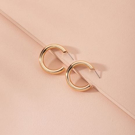 New fashion metal C-shaped large circle retro earrings wholesale nihaojewerly NHAI246844's discount tags