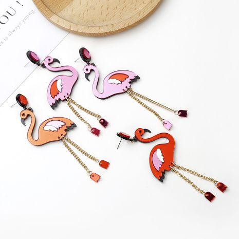 lustige tierohrringe niedlich flamingo hipster ohrringe großhandel nihaojewerly NHXI246878's discount tags