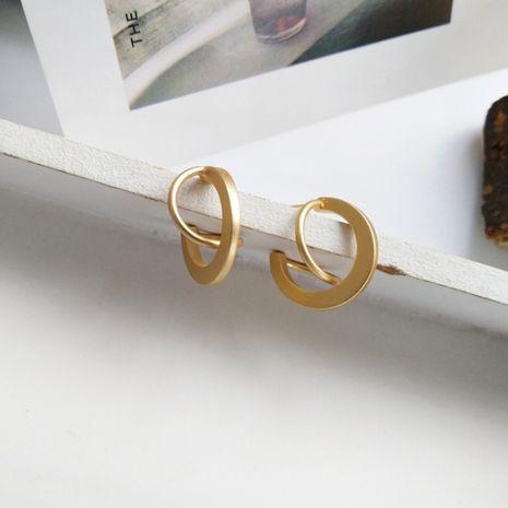 Petites boucles d'oreilles rétro sauvages mates minimalistes de Corée Boucles d'oreilles en alliage uniques pour femmes NHXI246880's discount tags
