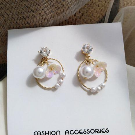 Boucles d'oreilles en alliage de perles pour femmes simples en corée géométrique belle fleur de résine NHXI246885's discount tags