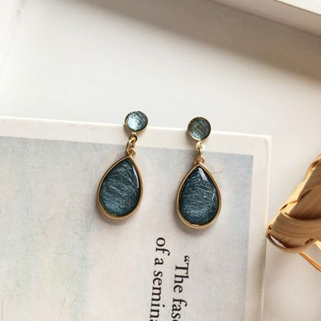 Korean hot sale blue fairy simple pure silver earrings  NHXI246889's discount tags