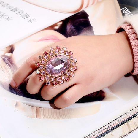 bague réglable en verre de cristal de diamant rétro chaud en gros nihaojewelry NHKQ246941's discount tags