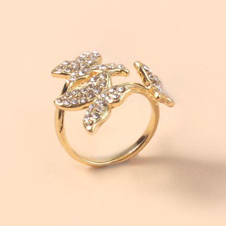 tendance mode bague créative diamant bague papillon en gros nihaojewelry NHKQ246946's discount tags